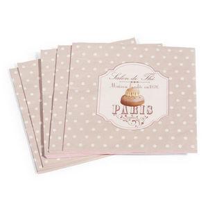 Maisons du monde - serviette salon de thé x 20 - Servilleta De Papel