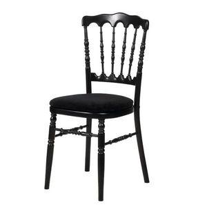 DECO PRIVE - chaise de reception napoleon iii noire - Silla De Recepción