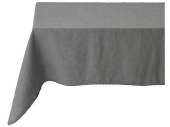 Athezza Home - nappe lin lav� gris 150x150cm - Mantel Rectangular