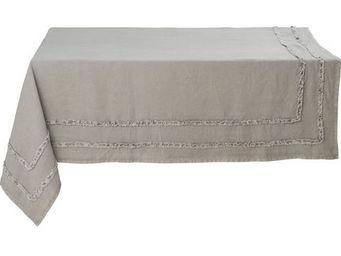 Athezza - nappe riga grise 150x250cm - Mantel Rectangular