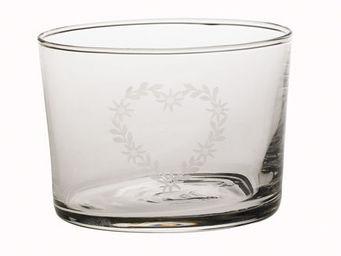 Athezza Home - verre chiquito coeur edelweiss 20cl - Vajilla Para Navidad Y Fiestas
