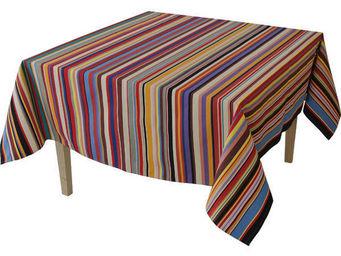 Les Toiles Du Soleil - nappe carrée tom multicolore - Mantel Cuadrado