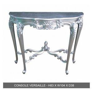 DECO PRIVE - console en bois argente modele versailles - Consola
