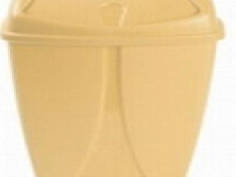 Up Trade - poubelle salle de bain 10 litres jaune - Papelera De Cuarto De Ba�o