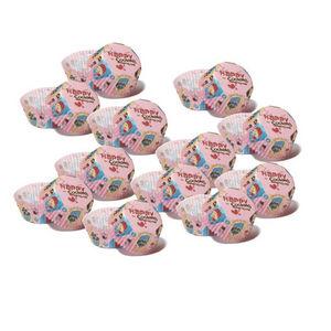 WHITE LABEL - 6 paquets de 100 moules de cuisson en papier décor - Molde Para Pasteles