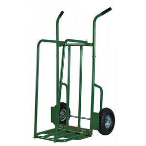 RIBILAND by Ribimex - chariot à bûches en acier verni vert jusqu'à 250k - Portador De Troncos