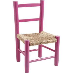 Aubry-Gaspard - petite chaise bois pour enfant framboise - Silla Para Niño