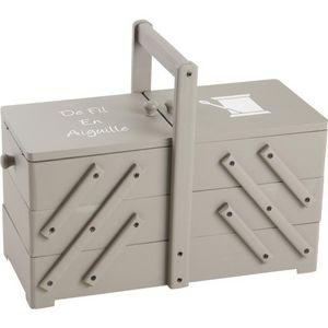 Aubry-Gaspard - boîte à couture bois de fil en aiguille - Caja De Costura