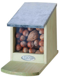 BEST FOR BIRDS - mangeoire en bois et zinc pour ecureuils - Comedero Para Ardillas