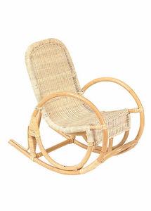 Aubry-Gaspard - rocking chair pour enfant en rotin - Butaca Para Niño