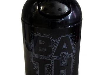 Cm - poubelle bath noire - Papelera De Cuarto De Ba�o