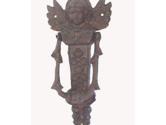 L'HERITIER DU TEMPS - claque porte ange en fonte 21cm - Aldaba