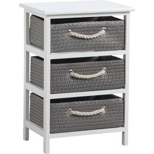 Aubry-Gaspard - meuble 3 panier de rangement corneille - Armarios Para Almacenaje