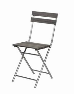 Mathi Design - chaise pliante bois et fer - Silla Plegable