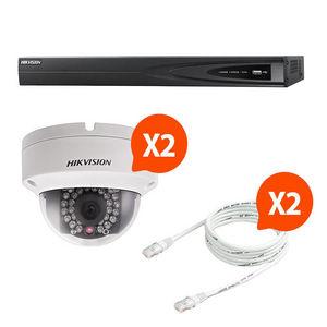 CFP SECURITE - kit video surveillance hikvision 2 caméra dôme n°6 - Cámara De Vigilancia