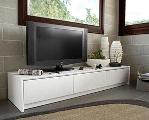 Calligaris - meuble tv password de calligaris blanc 3 tiroirs - Mueble Tv Hi Fi
