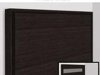 WHITE LABEL - armoire lit escamotable athena, ch�ne anthracite. - Armario Cama