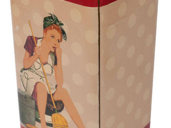Antic Line Creations - poubelle de cuisine vintage - Cubo De Basura De Cocina