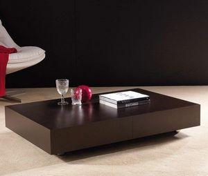 WHITE LABEL - table basse relevable extensible block design weng - Mesa De Centro De Altura Regulable
