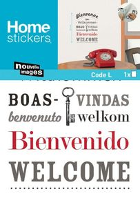 Nouvelles Images - sticker mural bienvenue en plusieurs langues - Adhesivo