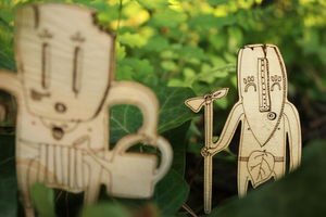 MIWITIPEE - chamans des plantes en pot - Etiqueta De Jardin