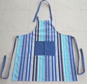 ITI  - Indian Textile Innovation - stripes - blue - Delantal De Cocina