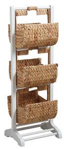 Aubry-Gaspard - meuble de rangement en bois et jacinthe - Mueble Zapatero
