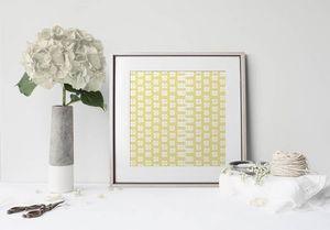 la Magie dans l'Image - print art lotus jaune blanc - Póster