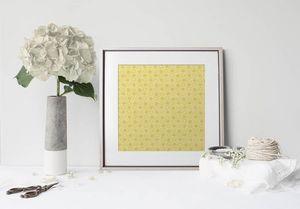 la Magie dans l'Image - print art trèfle jaune foncé - Póster