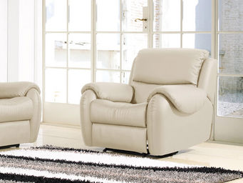 WHITE LABEL - fauteuil cuir relaxation inaya - Sillón