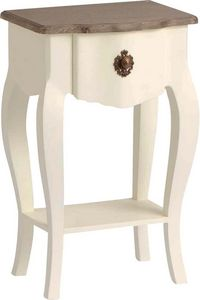 Amadeus - table de chevet blanche celestine en bois mdf - Mesa De Noche