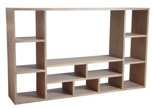 Aubry-Gaspard - meuble tv épicéa gris - Mueble Tv Hi Fi