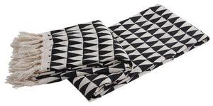 Aubry-Gaspard - plaid en coton triangles - Manta De Viaje / Plaid