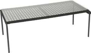 Amadeus - table basse en aluminium et corde - Mesa De Centro Rectangular