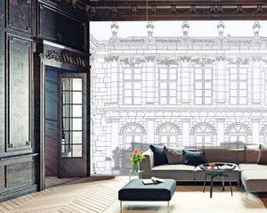 IN CREATION - façade au crayon - Papel Pintado Panorámico
