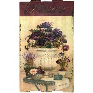 CHEMIN DE CAMPAGNE - tableau cadre en bois peint style campagne - Cuadro Decorativo