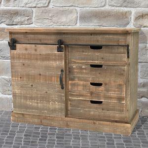CHEMIN DE CAMPAGNE - meuble semainier buffet bahut à porte coulissante  - Mueble De Cocina (bajo)