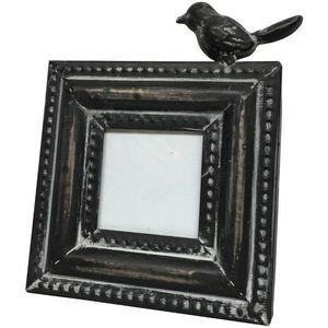 CHEMIN DE CAMPAGNE - cadre photo porte photo à poser oiseau en fer 16 c - Marco Portafotos