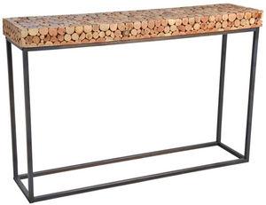 Aubry-Gaspard - console en bois et pied métal - Consola