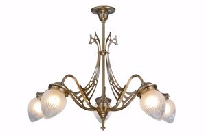 PATINAS - genoa 5 armed chandelier i. - Araña