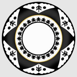 Design Atelier - black star - Plato Decorativo