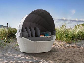 BELIANI - lit de jardin avec capote - Cama Para Exterior