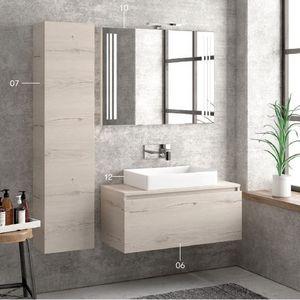 ITAL BAINS DESIGN - space 100 melamine - Mueble De Cuarto De Baño