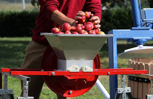 Triturador de manzanas