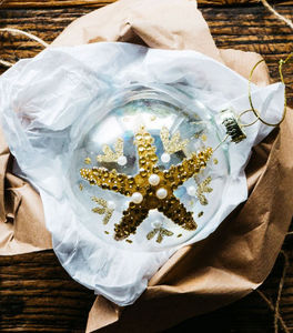 Graham & Green - gold starfish - Bola De Navidad