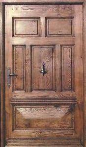 Entreprise Provencale De Menuiserie - châteauneuf - Puerta Descansillo Maciza