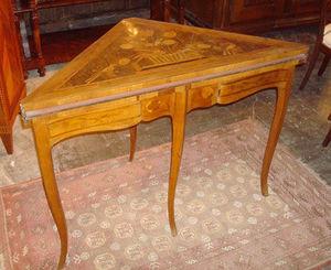 Bertrand Klein - table de jeux marquetée - Mesa De Juegos