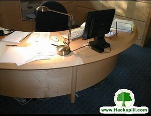 Ebénisterie Hackspill -  - Mesa De Despacho En Ángulo