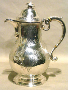 ERNEST JOHNSON ANTIQUES - silver coffee pot - Cafetera