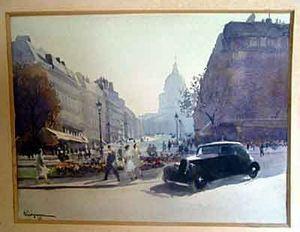 Antiquités ARVEL - aquarelle paris - Acuarela